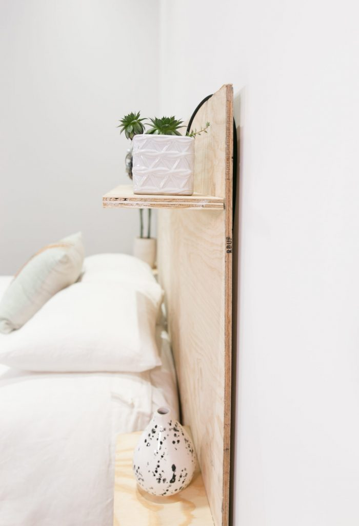 Plywood headboard side