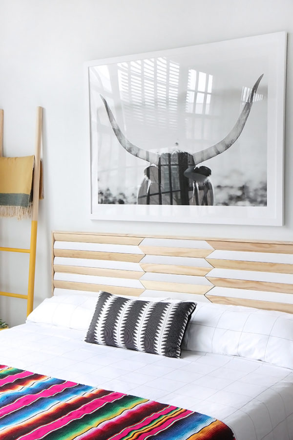 Wood headboard DIY bedhead ideas