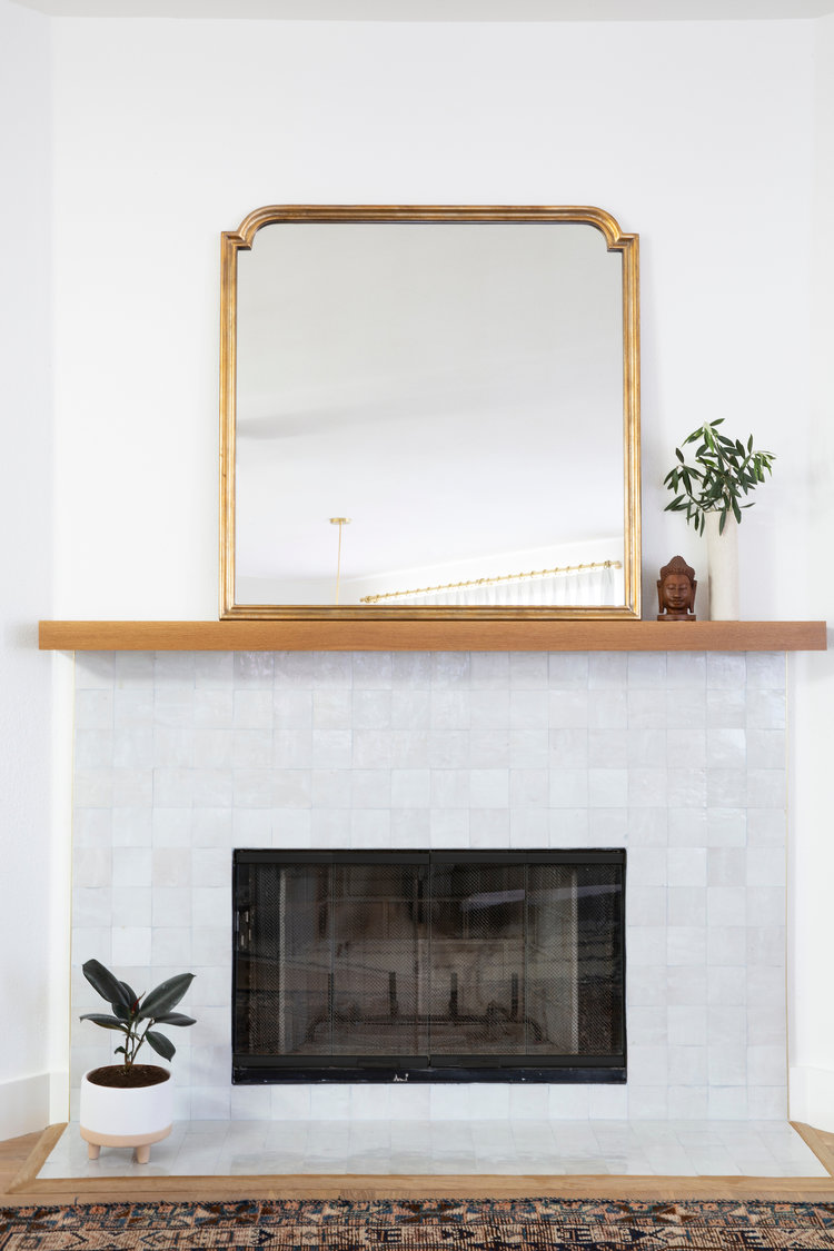 Zellige tile around fireplace cool fireplaces