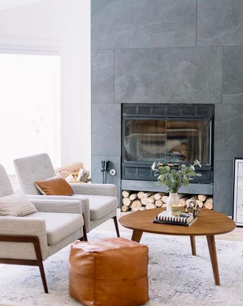 Cool fireplaces large bluestone tiles around fireplace