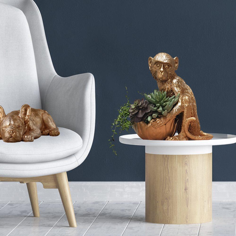 Gold monkey bowl