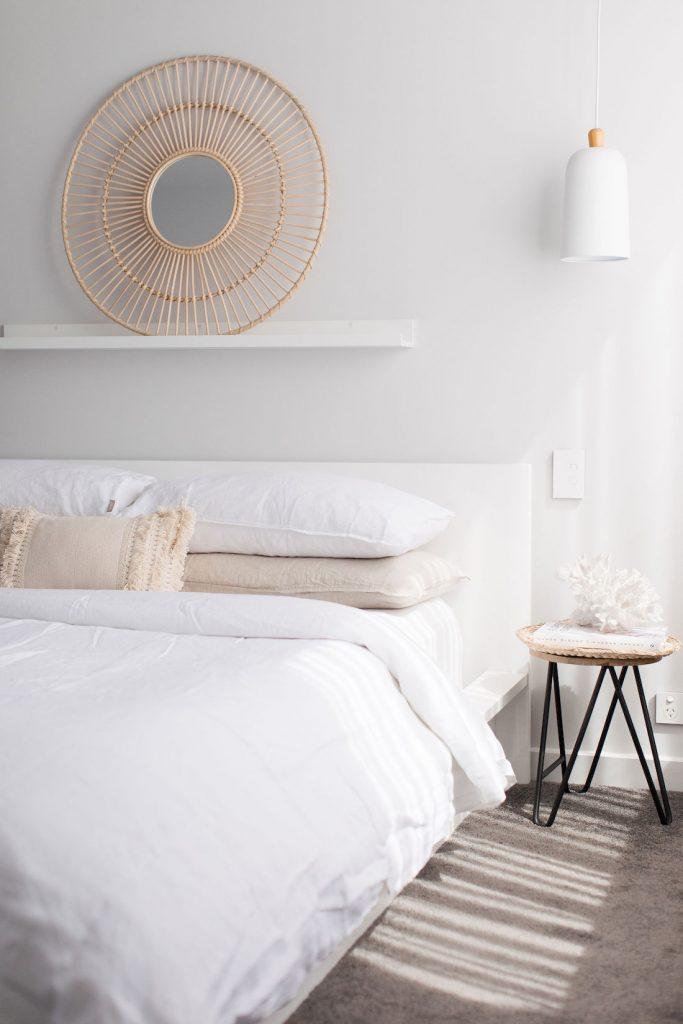 Coastal bedroom portrait