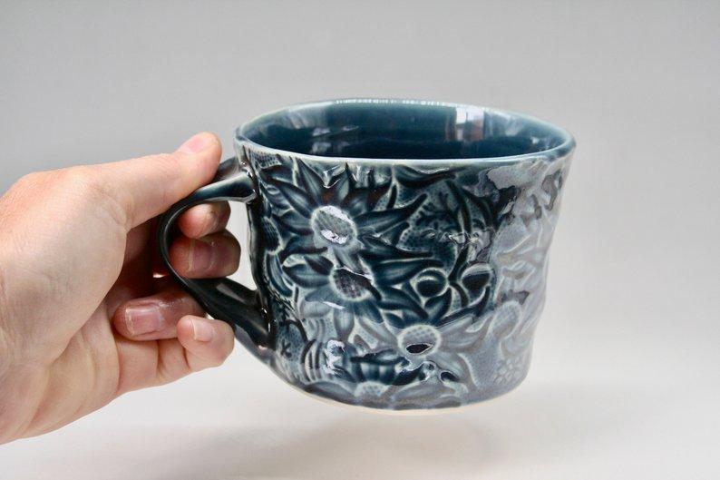 DM blue mug