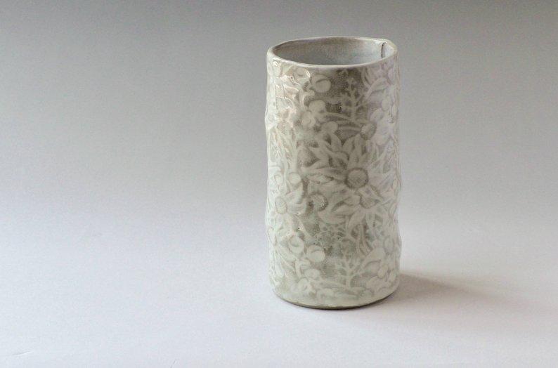 DM pottery vase