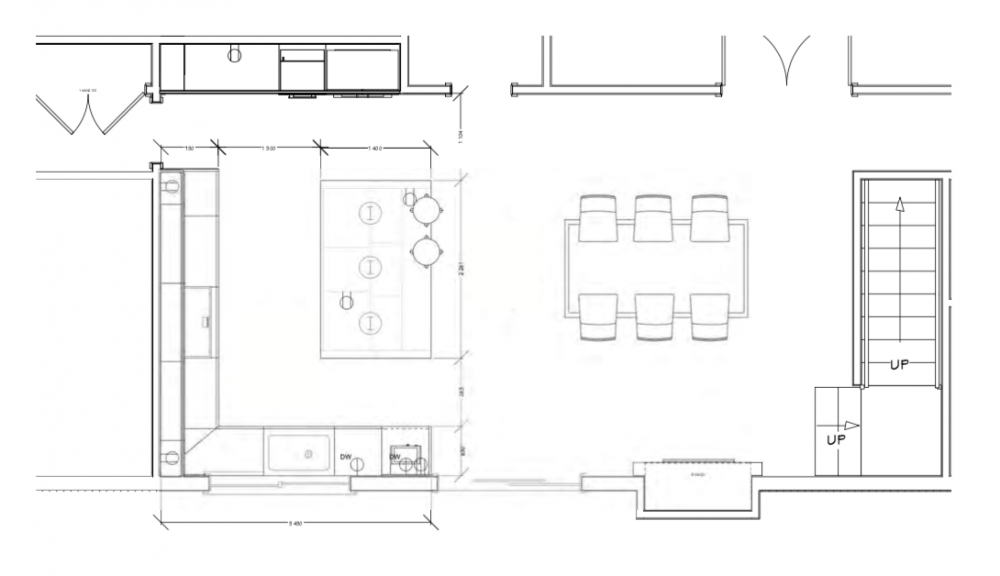 Floor plan after