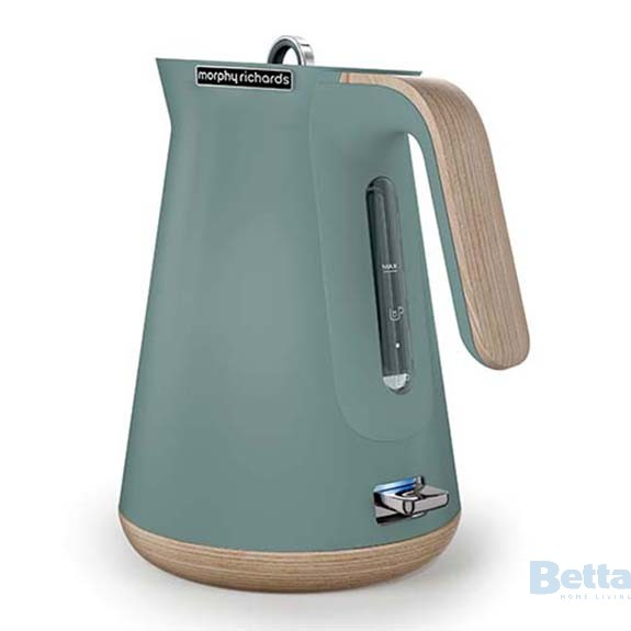 Teal coloured kettle