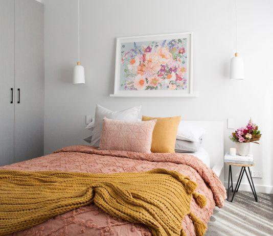Romantic autumn bedroom landcape