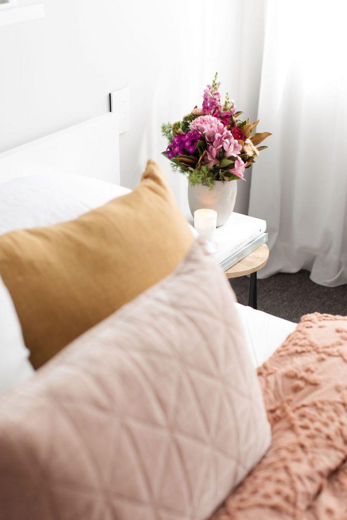 Romantic autumn cushions portrait