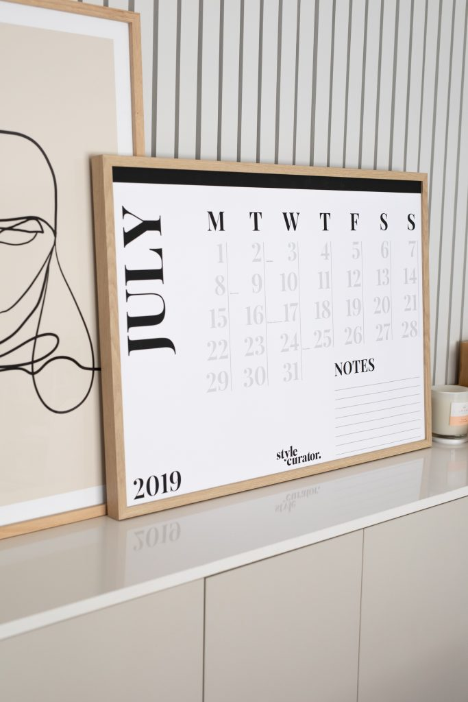 A1 Minimalist wall calendar