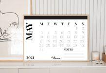 Calendar front on
