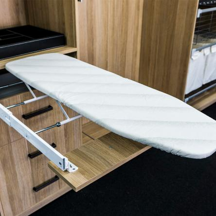 Pull out ironing board