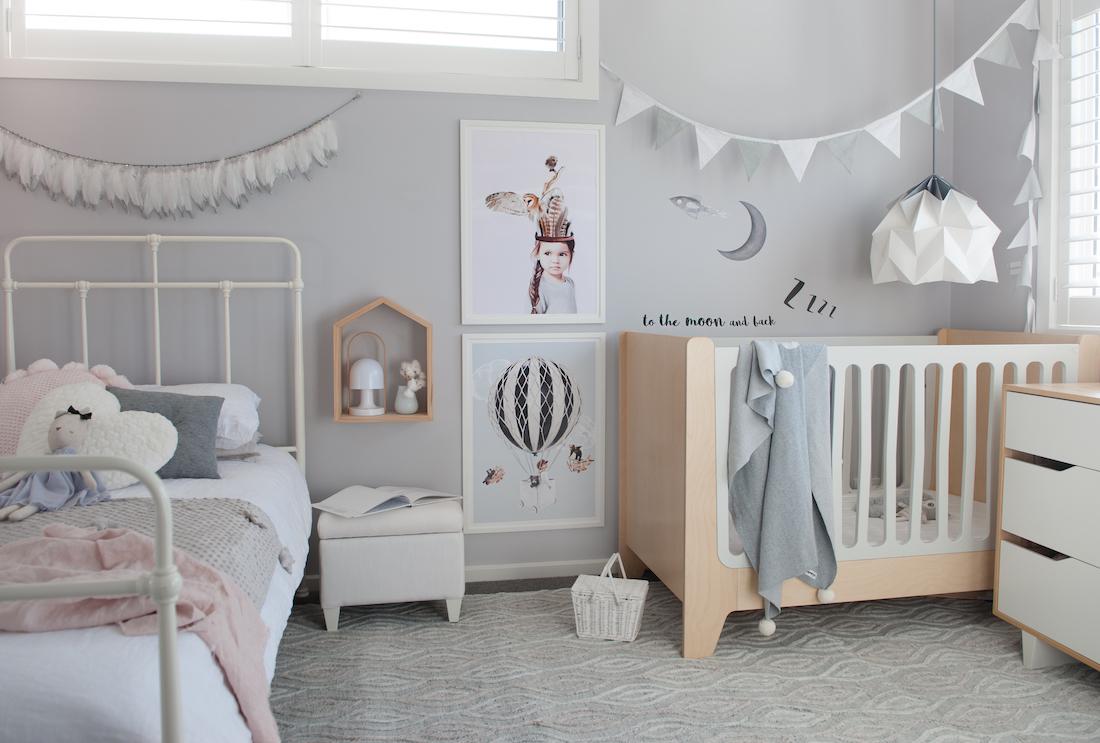 Room Reveal Stylish Girl Boy Shared Children S Bedroom