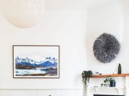 Michelle Bask fireplace styling
