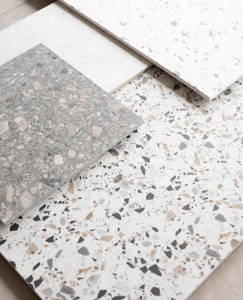 Porcelain print tiles Real terrazzo vs terrazzo-look tiles