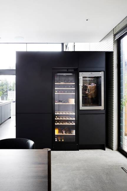 Wine fridge and cured meat fridge