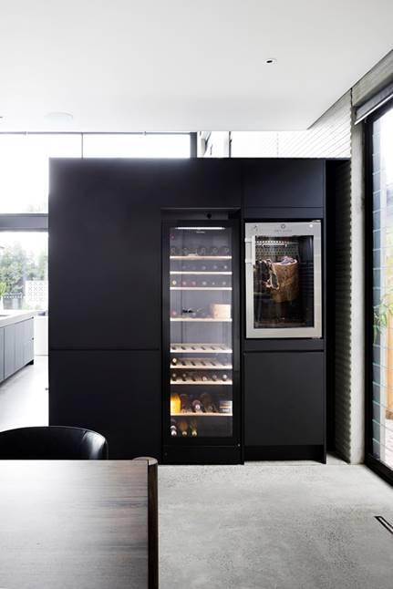 Wine fridge and cured meat fridge
