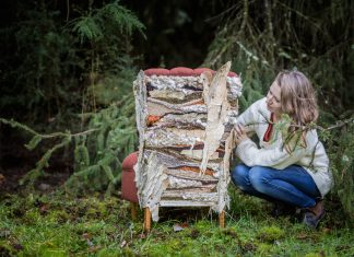 Artist Kerri Hollingworth from Antiquate with custom chair