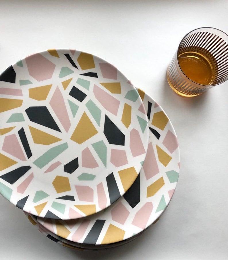 Bamboo dinner plate