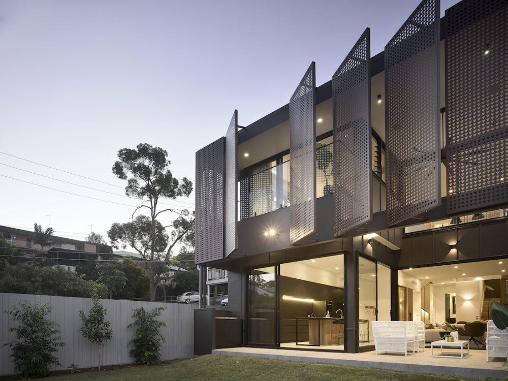 Black facade modern construction by Graya