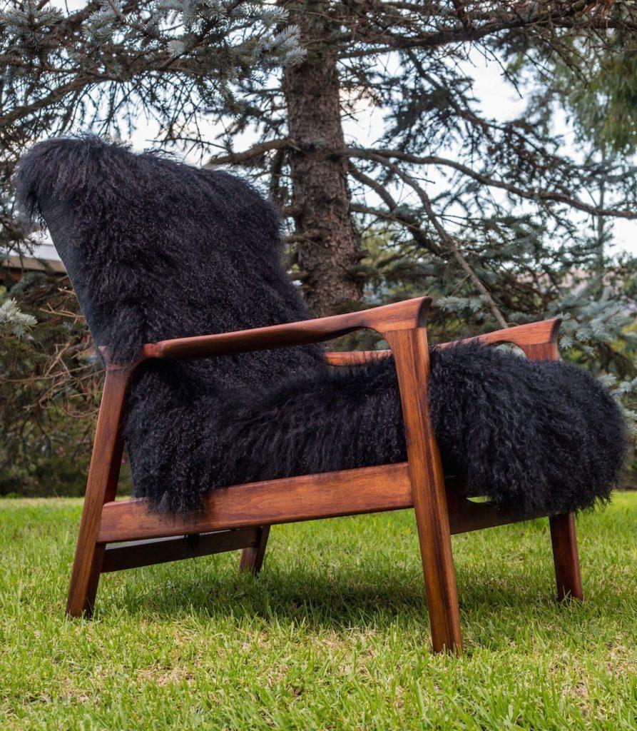 Custom fluffy chair by Antiquate artist Kerri Hollingworth