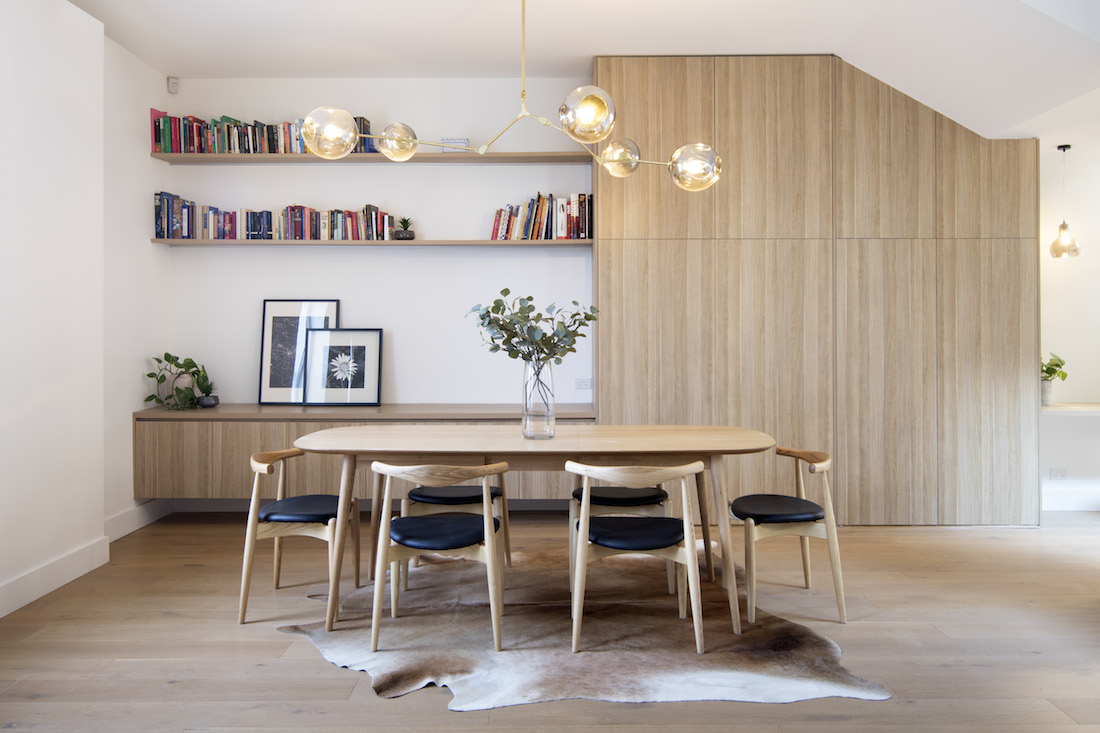 Dining room with storage