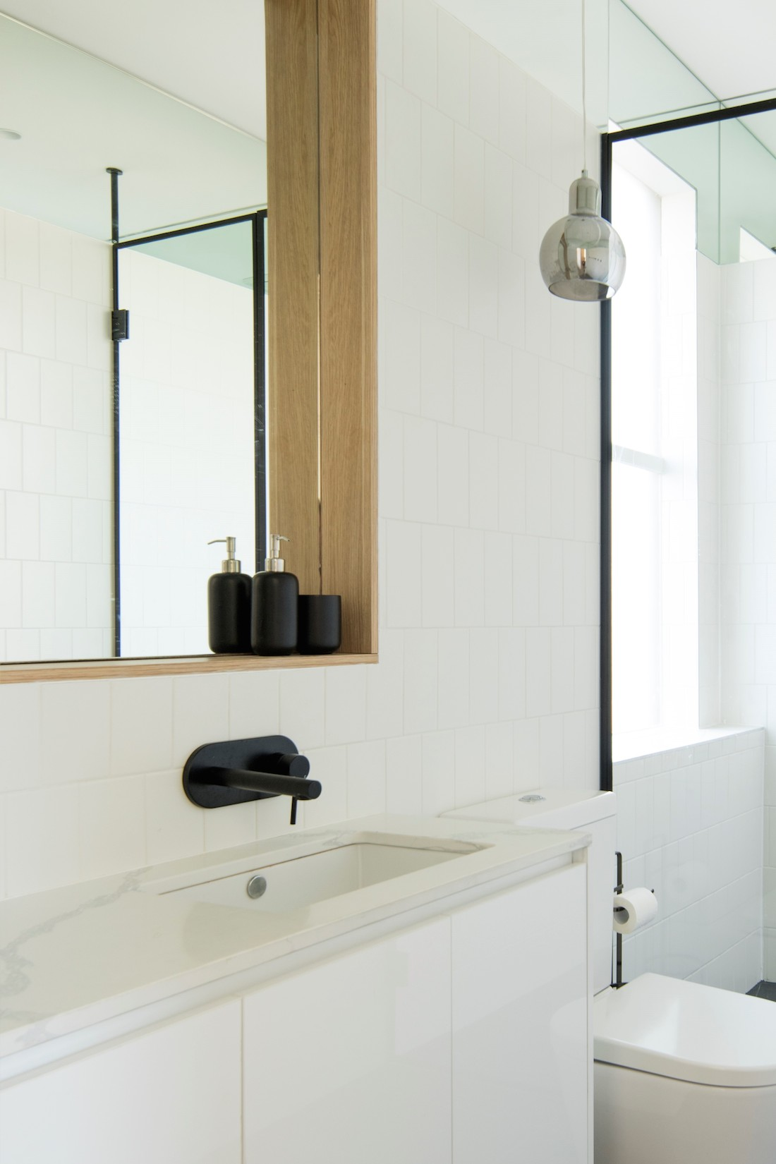 Ensuite features in tight heritage townhouse