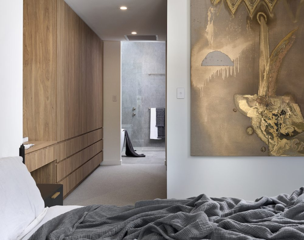 Master bedroom walk in robe and ensuite