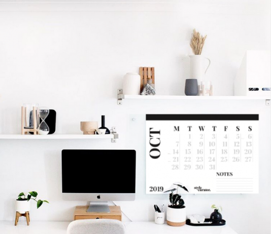 Black and white office styling