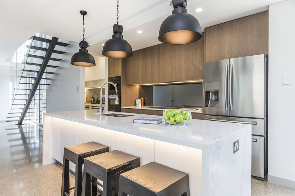 Open concept industrial kitchen Naomi Findlay luxe looks for less
