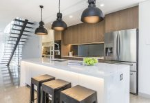 Open concept industrial kitchen Naomi Findlay