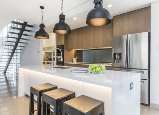 Open concept industrial kitchen Naomi Findlay