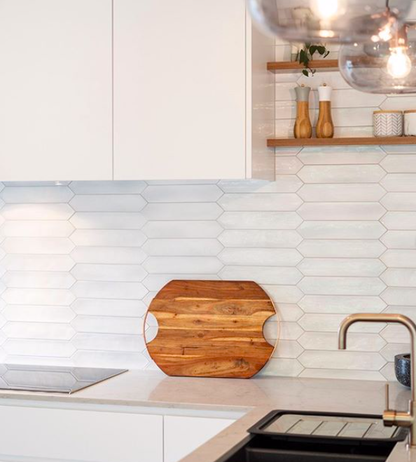 Picket Subway Kitchen Splash back right kitchen splashback tile