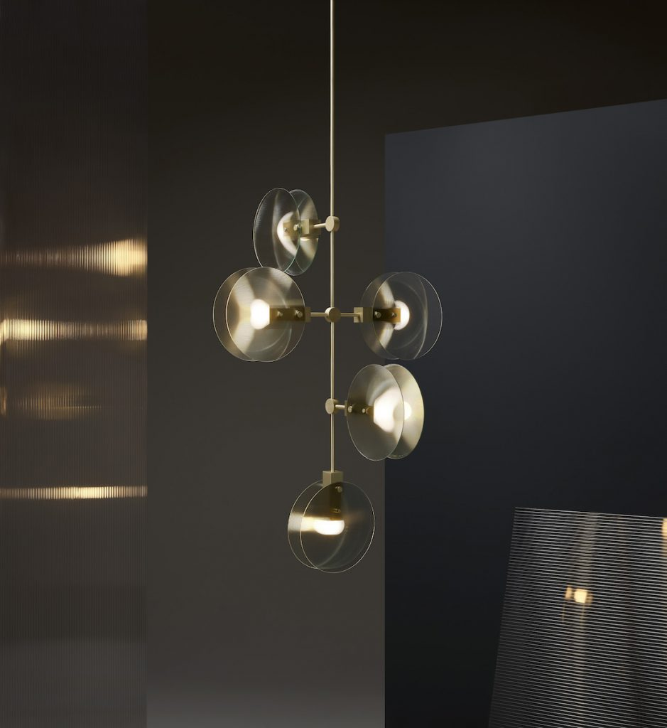 Sculptural lighting chandelier