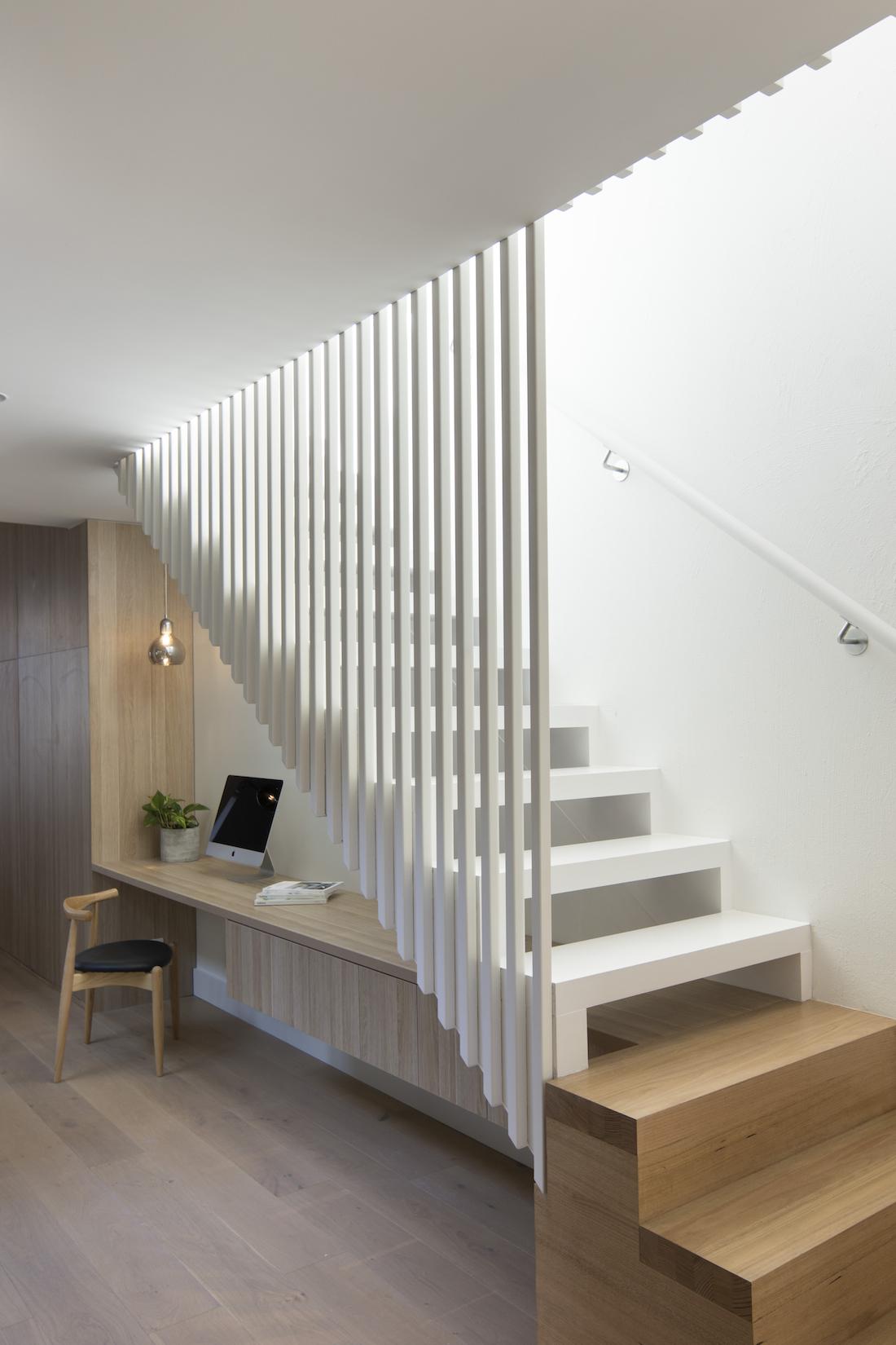 Under stairs study nook