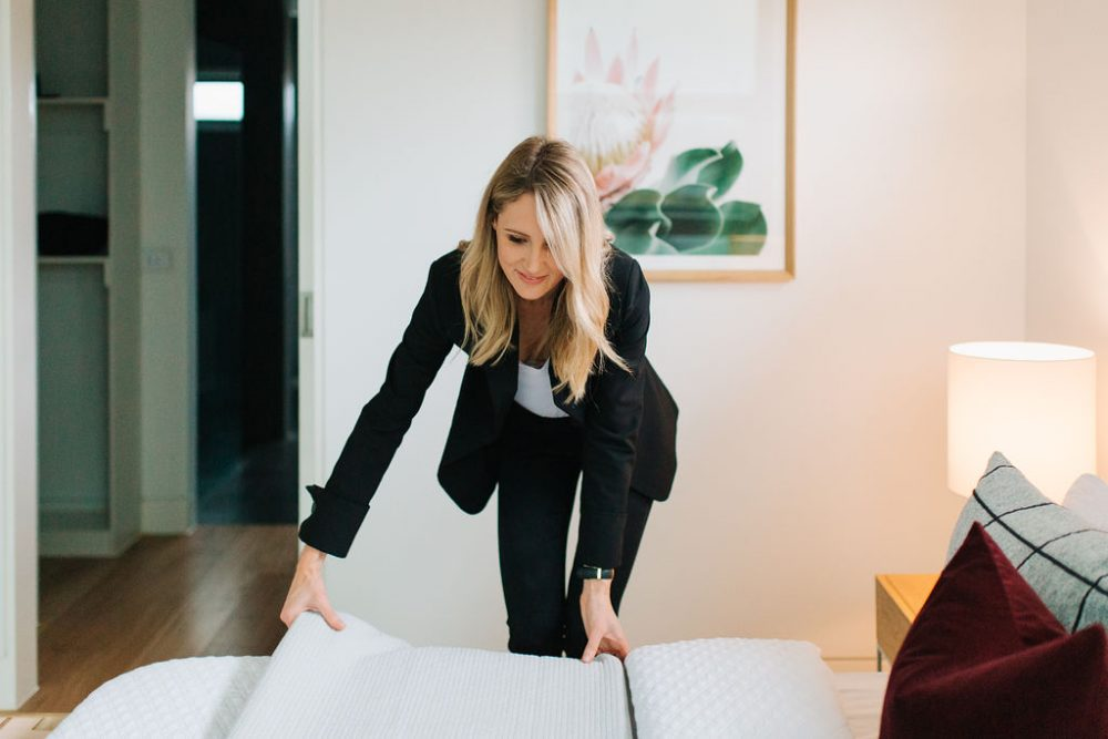 Emma Tobin styling a property