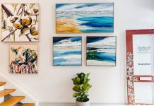 Bluethumb exhibition space with art on walls