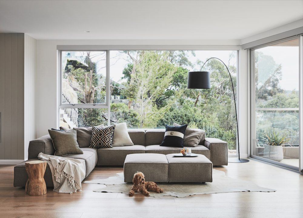 Burraneer home_lounge with large windows