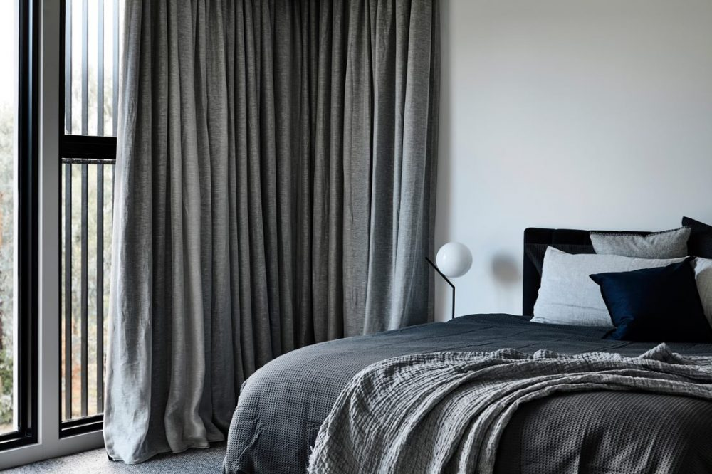 Grey bedroom in Biasol home