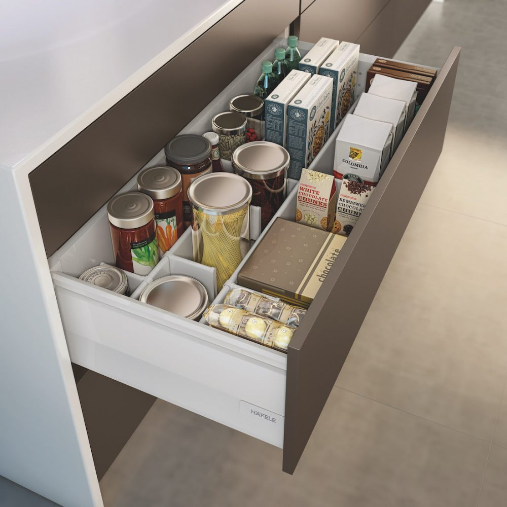 Häfele drawer storage kitchen storage solutions