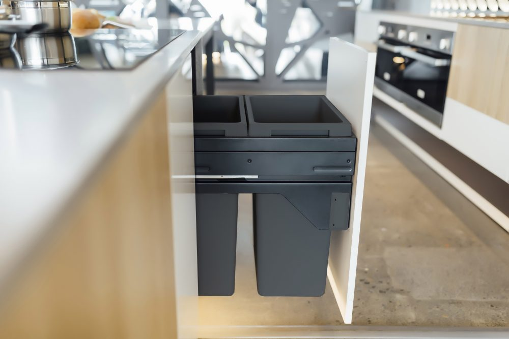 Multi compartment bin kitchen storage solutions
