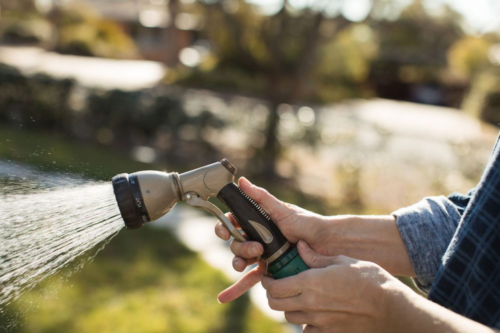 Handy lock on Hoselink hose reel