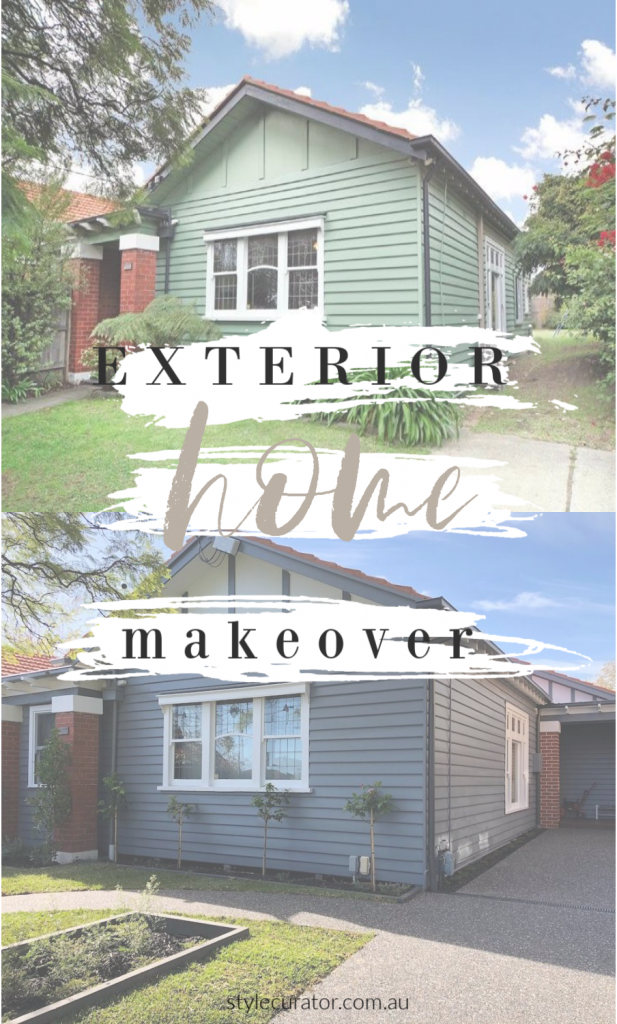 House before and after external makeover