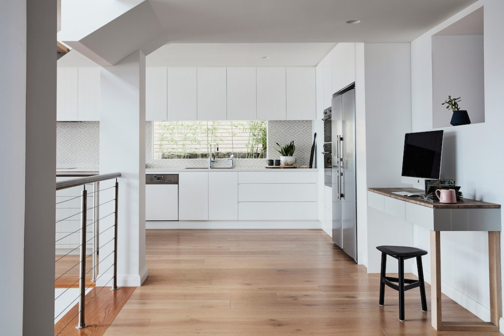 Kitchen and study styled by Oliver Myles in Burraneer home