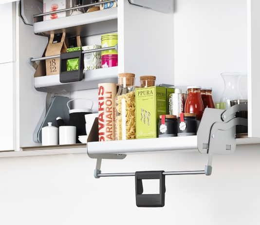 Pull down shelf