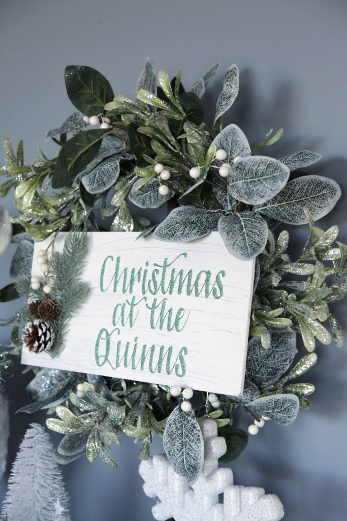 Personalised wreath from Christmas Cart