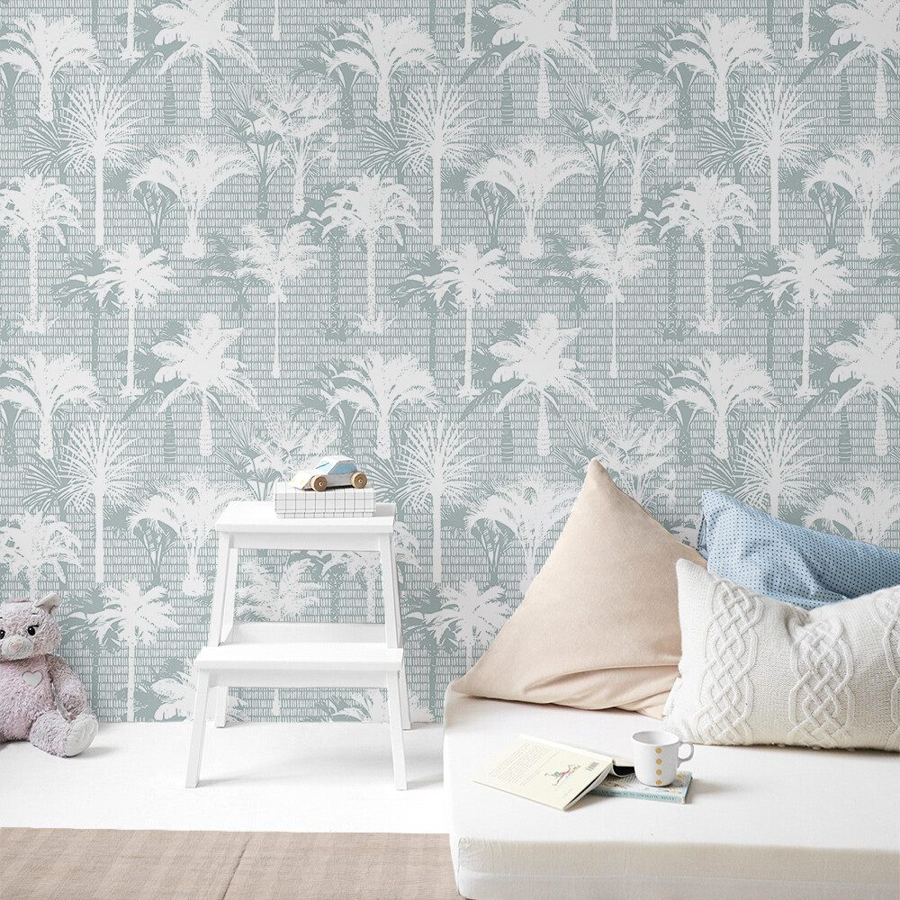 Seamist Palms removable wallpaper by Boho Art & Styling