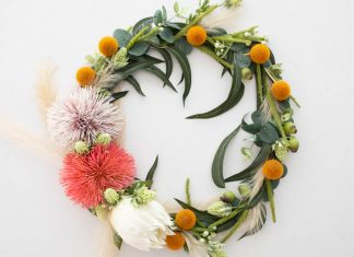 Completed wreath landscape