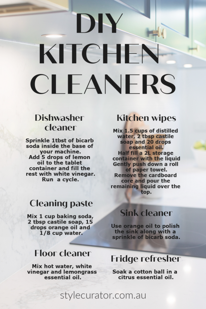 DIY kitchen cleaning products