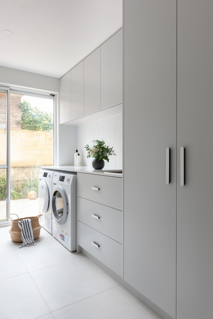 Family laundry space by Jane Ledger