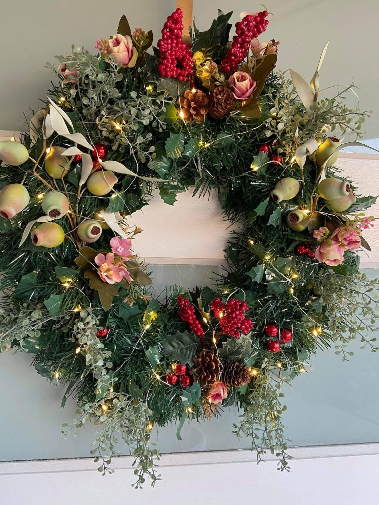 Kmart hack faux Christmas wreath